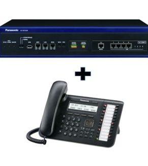Combo Planta IP Panasonic KX- NS1000 + Teléfono digital KX DT543